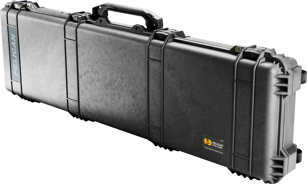 pelican 1750 black long gun case