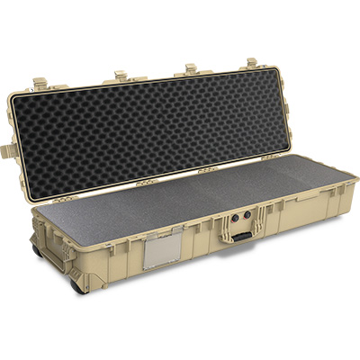 pelican 1770 tan rolling weapons case