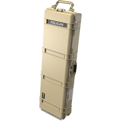 pelican 1770 tan rolling weapons hard case