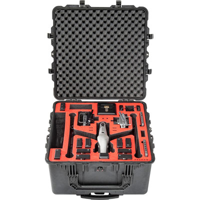pelican dji insire 2 custom foam drone case