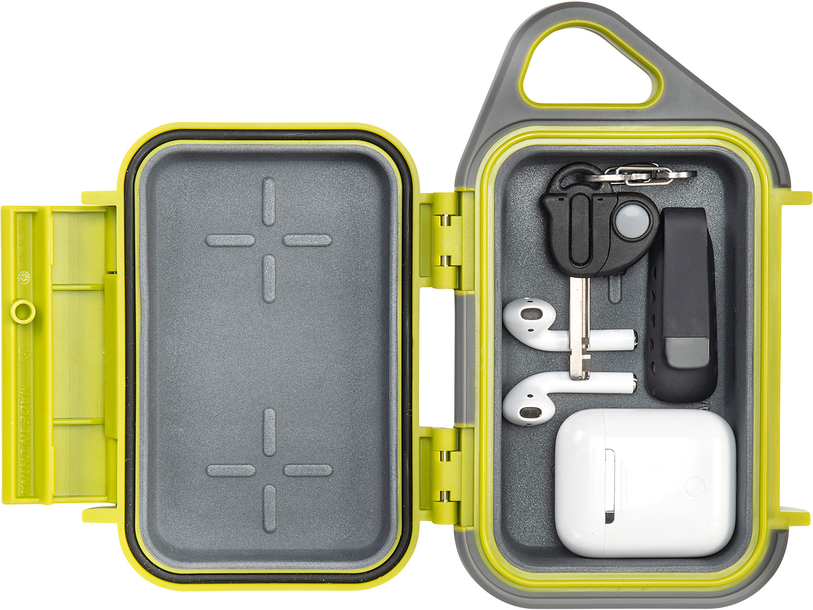 pelican g10 lime apple airpod go case