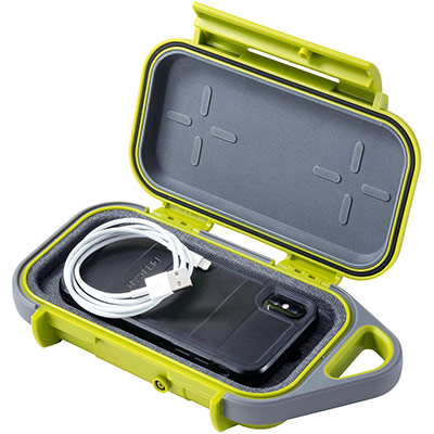 pelican g40 green small phone cable case