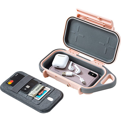 pelican g40 pink airpod iphone wallet case