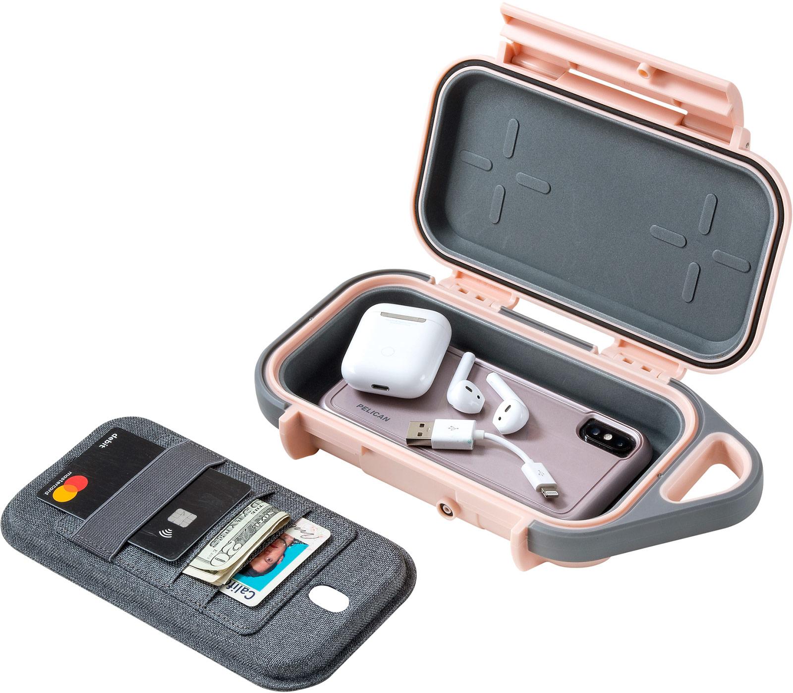 pelican g40 pink airpod iphone wallet case