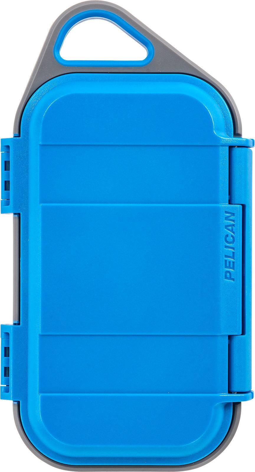pelican micro watertight storage case blue