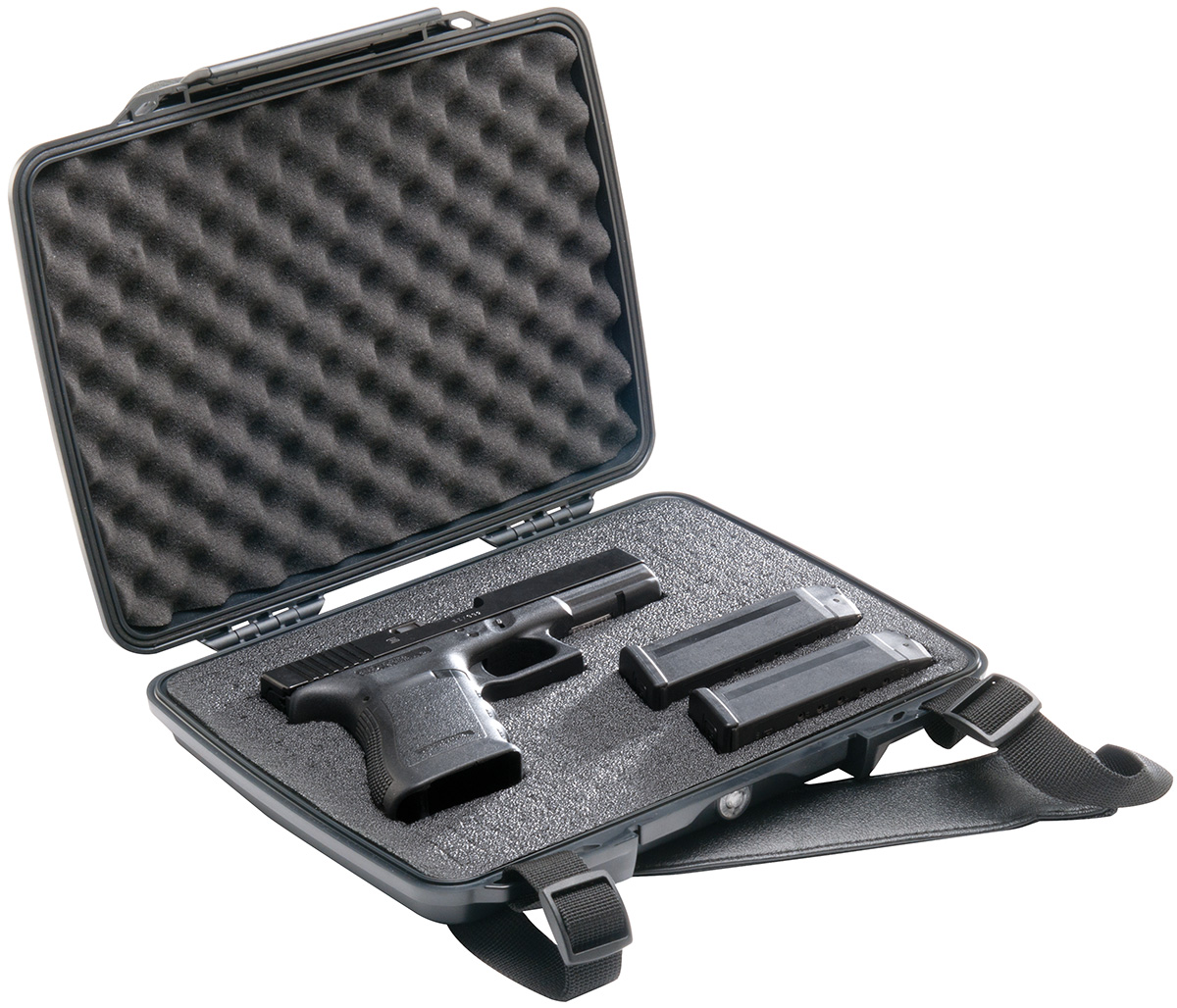 pelican p1075 hard pistol gun waterproof case
