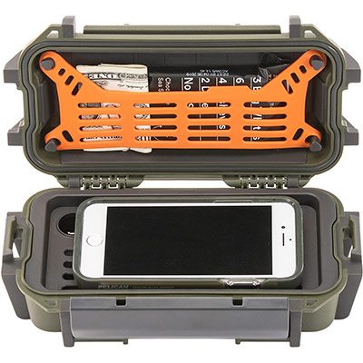 pelican r20 green phone money utility case