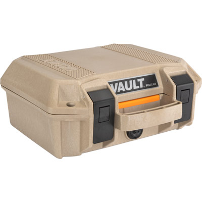 pelican vault v100 gun case tan pistol cases