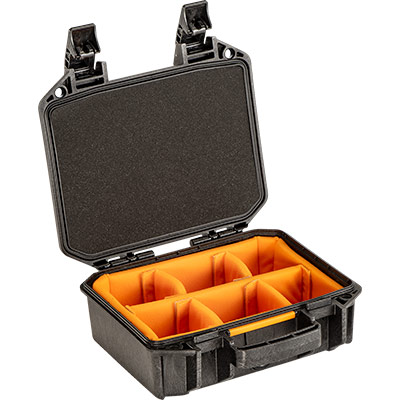 pelican vault v100 photo camera divider case