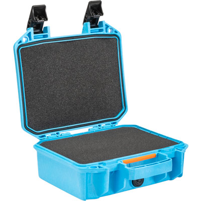 pelican vault case blue carying case v100c