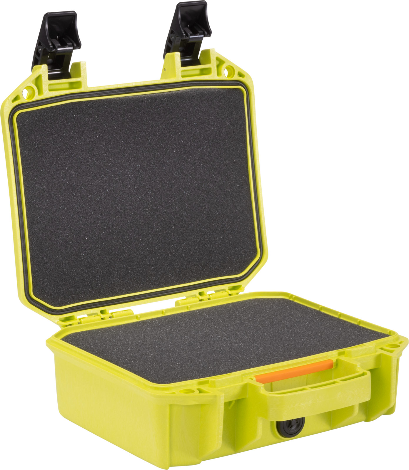 pelican vault case bright green cases v100c
