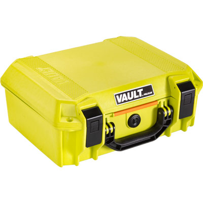 pelican bright green vault color case v200c