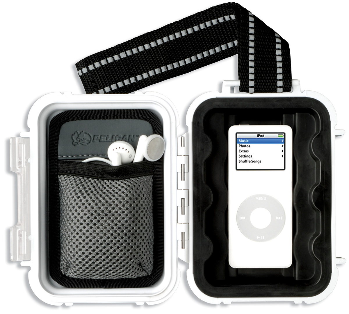 pelican peli products i1010 white ipod nano waterproof case