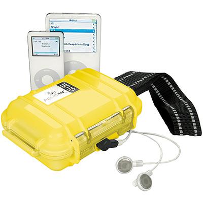 pelican i1010 yellow ipod watertight hard case