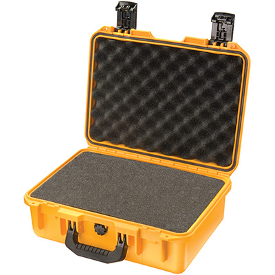 pelican yellow hard waterproof dive case