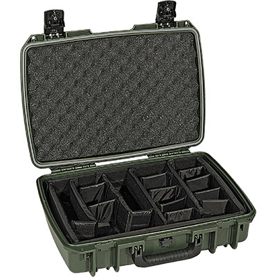 pelican im2370 green padded divider case