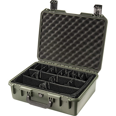 pelican im2400 green padded divider case