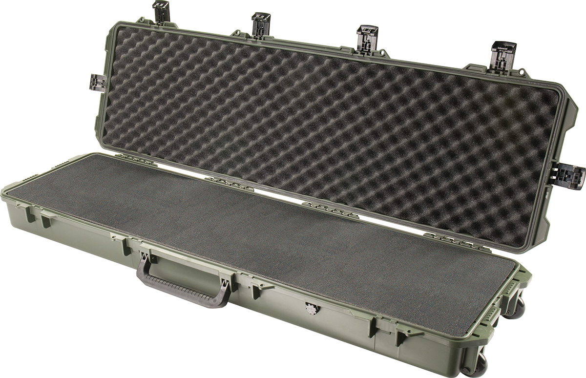 pelican storm im3300 green long rifle gun case