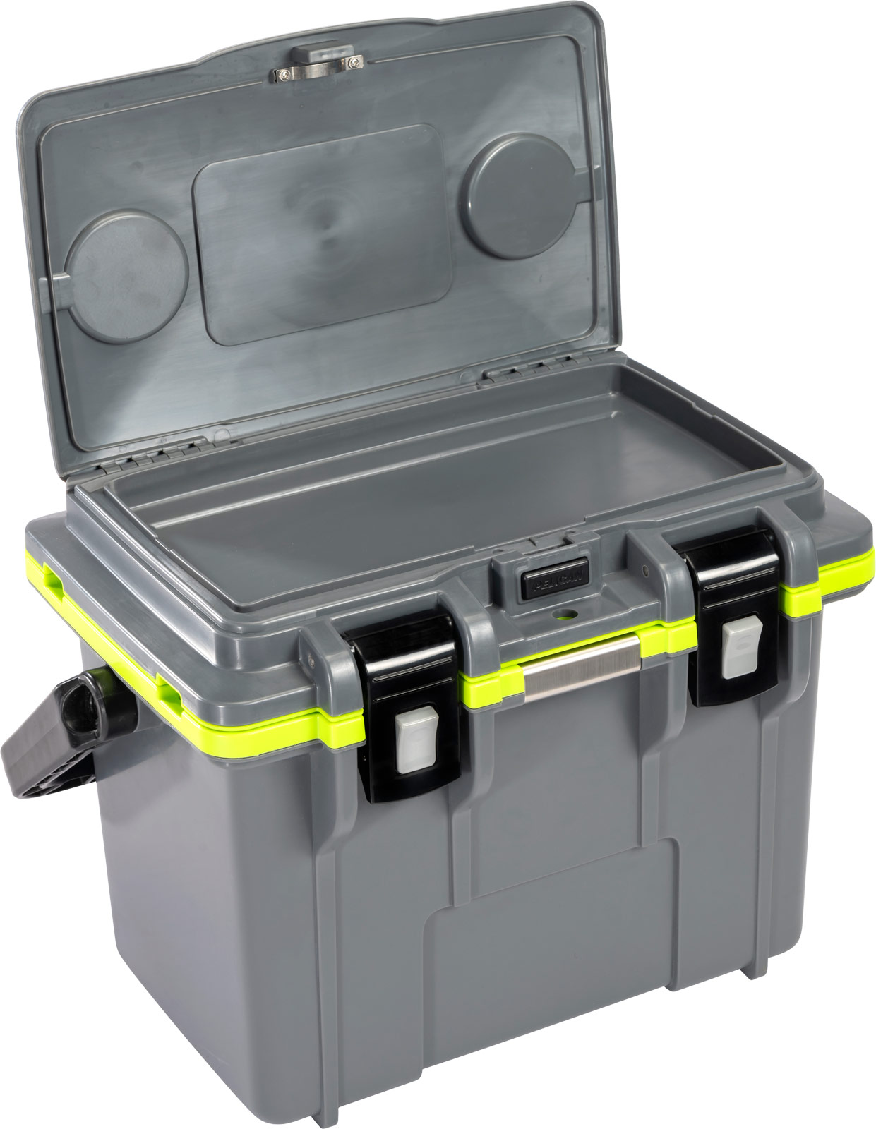 pelican personal cooler 14qt grey green
