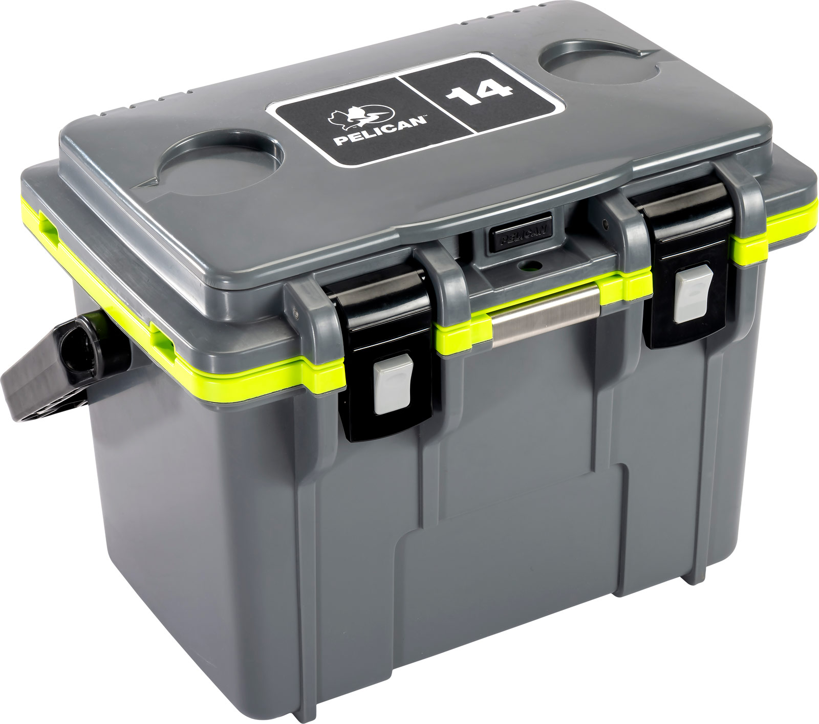 pelican personal coolers gray green cooler