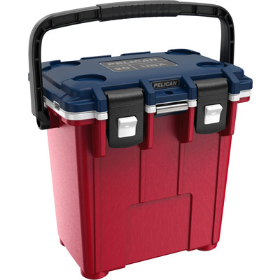pelican 20qt 20 quart americana cooler red white blue