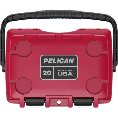 pelican 20qt american cooler red white blue