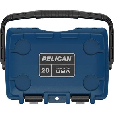 pelican drink cooler 20qt pacific blue gray