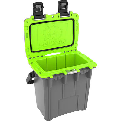 shop pelican 20qt buy green camping coolers