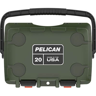 shop pelican 20qt buy made in usa hunting coolers