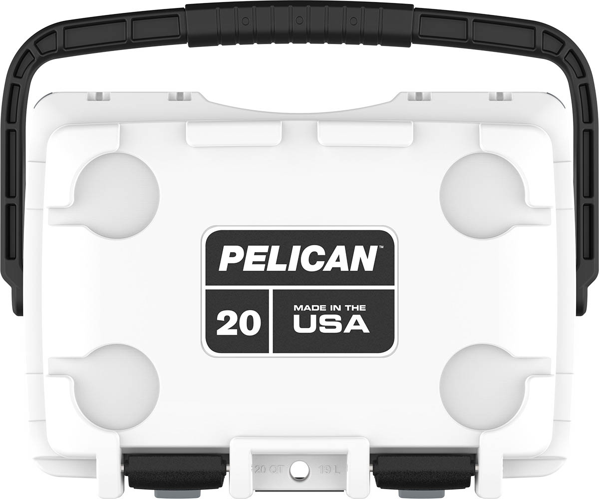 shop pelican 20qt buy made in usa fishing coolers