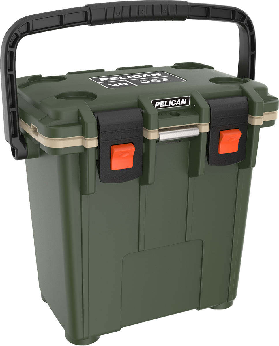 shop pelican 20qt od buy hunting coolers green