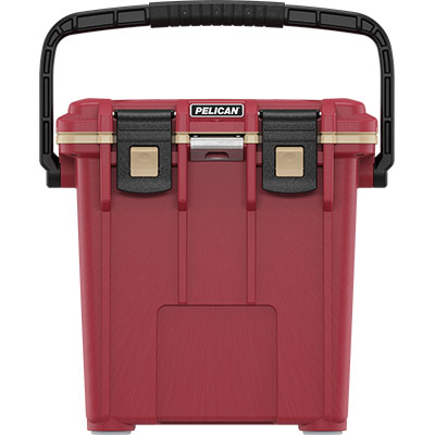 pelican 20qt overloand cooler canyon red
