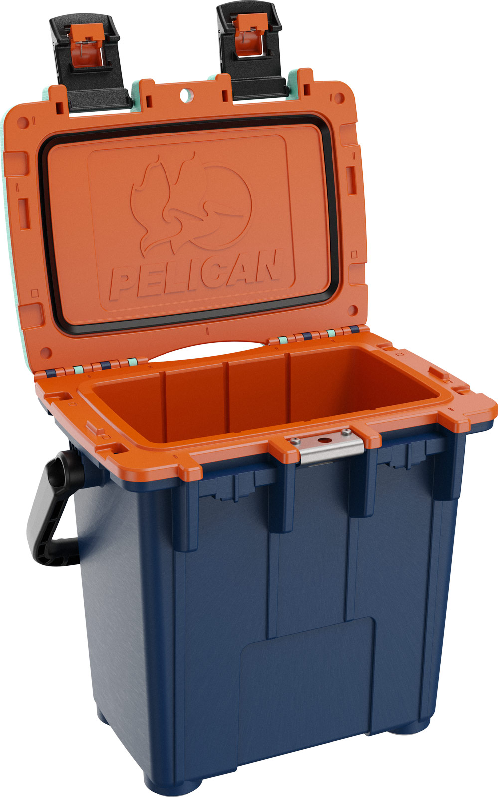 pelican picnic cooler 20qt pacific blue orange seafoam