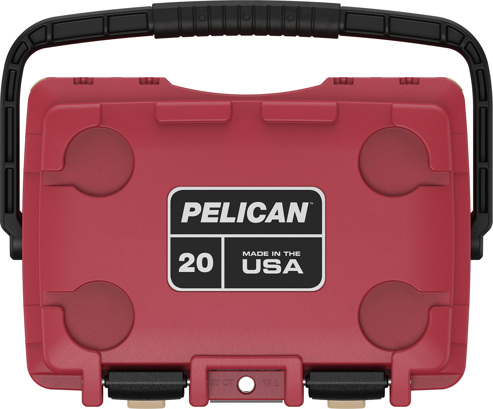 pelican 20qt red overland cooler camping