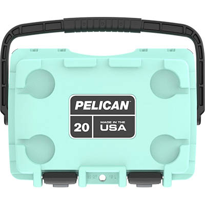 shop pelican 20qt buy seafoam marine usa made coolers