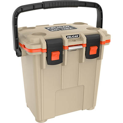 shopping pelican 20qt buy tan elite camping cooler