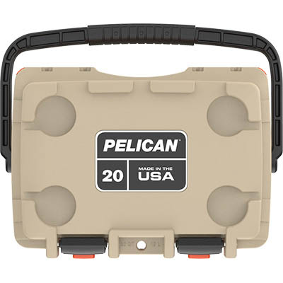 shopping pelican 20qt buy tan elite made in usa coolers