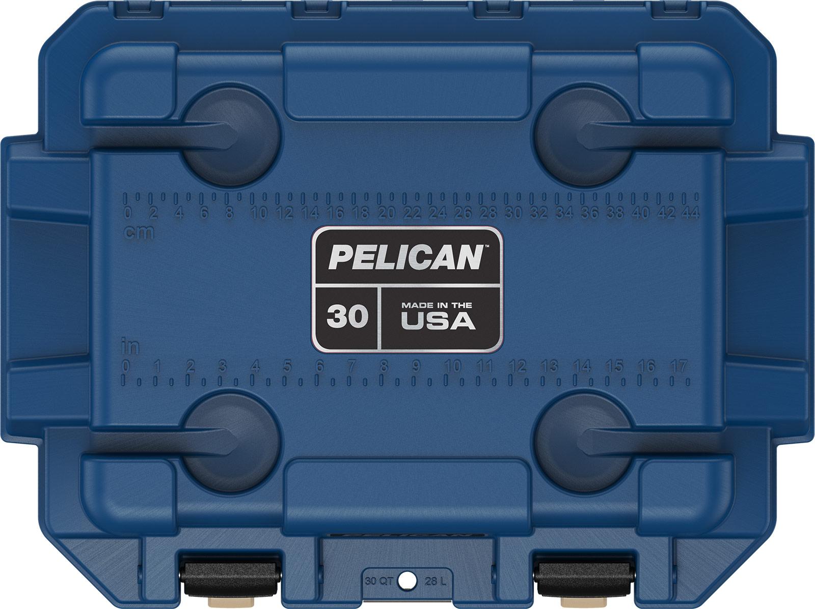 pelican 30qt pacific blue cooler overland