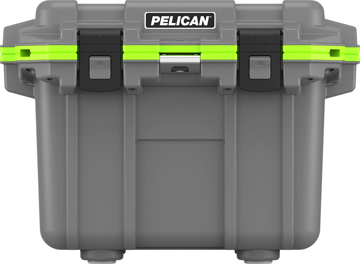 pelican green 30 quart fishing coolers