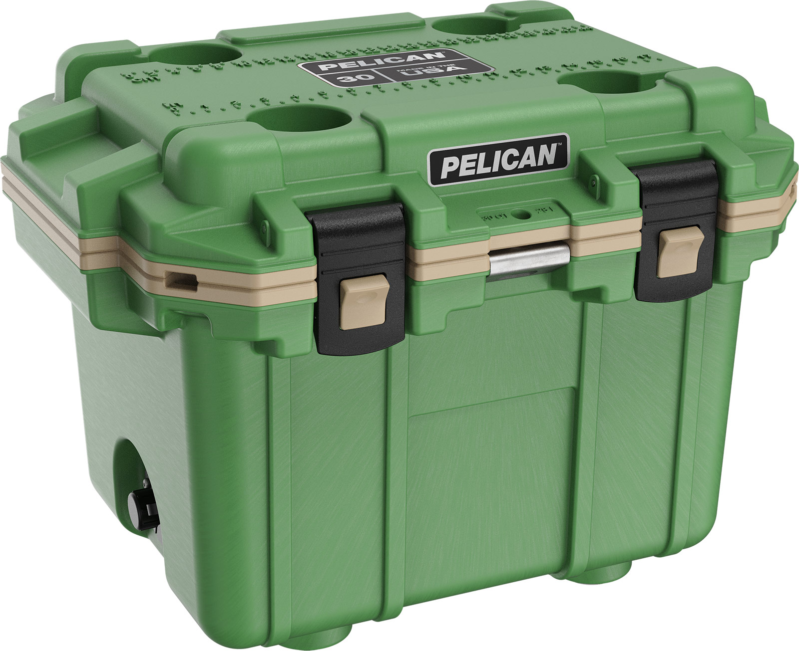 pelican green overland cooler 30 quart