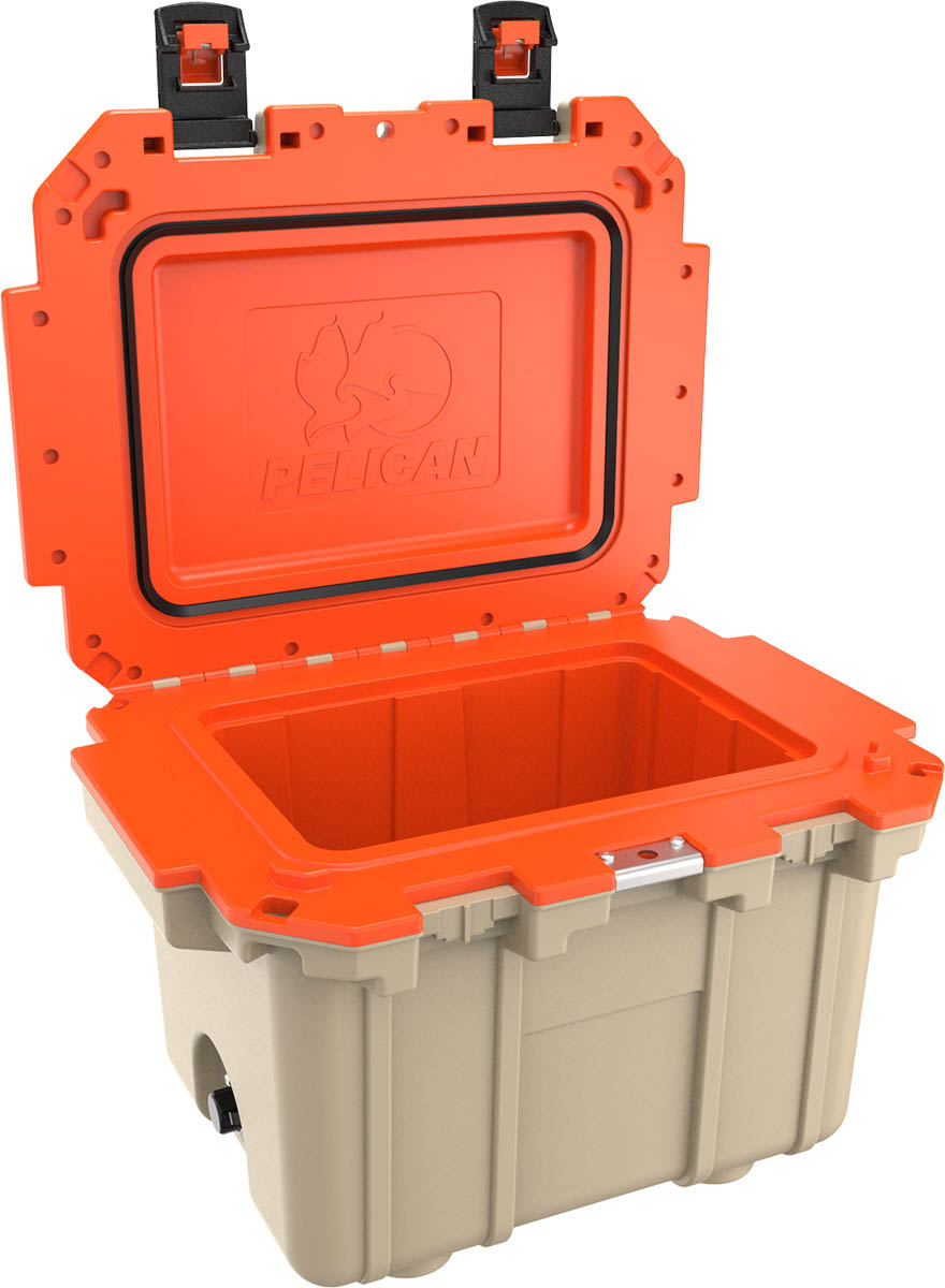 pelican orange tan cooler hunting coolers