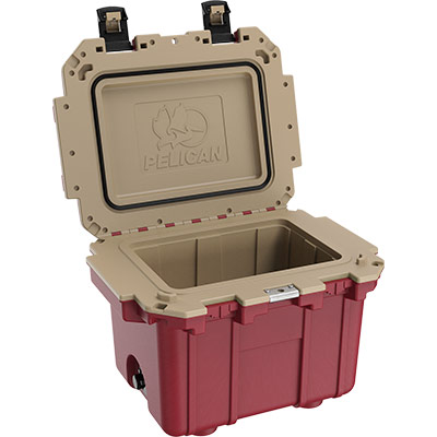 pelican overland coolers 30qt red cooler