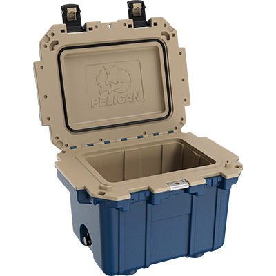 pelican 30qt overlandcollection cooler blue