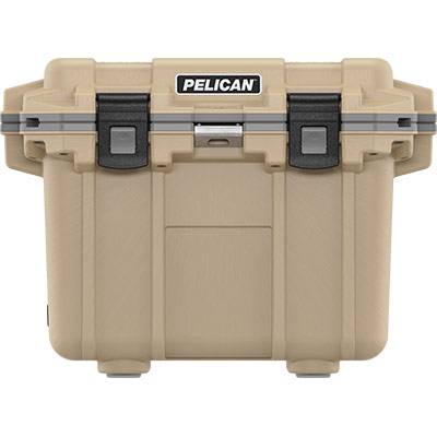 pelican tan outdoor cooler 30qt overland