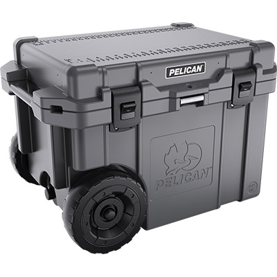 pelican 45 quart wheeled cooler dark grey graphite