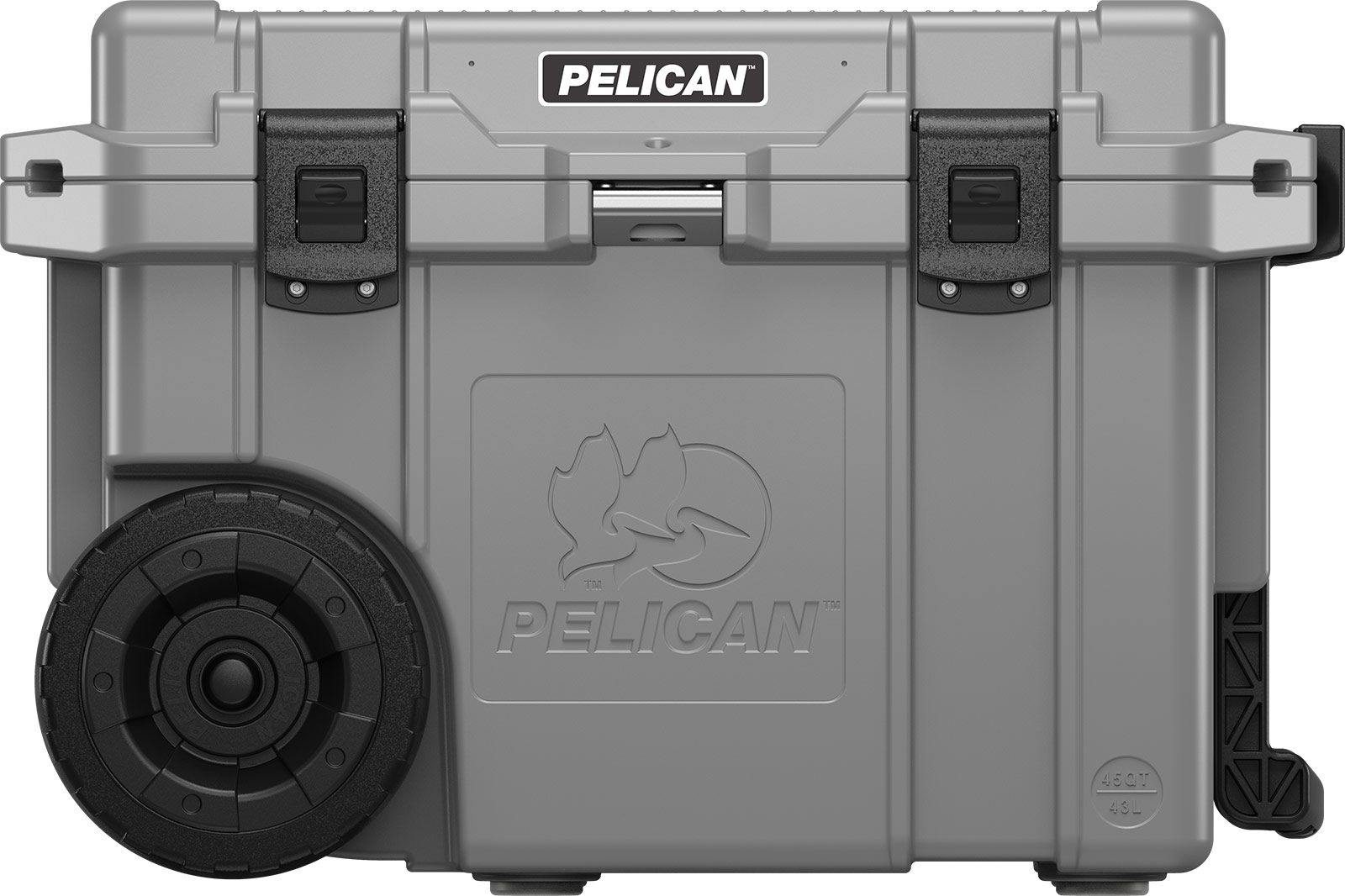 pelican 45qw cooler gray wheeled coolers