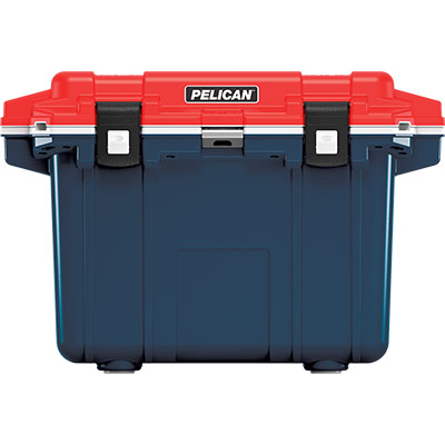 pelican 50qt americana cooler red white blue