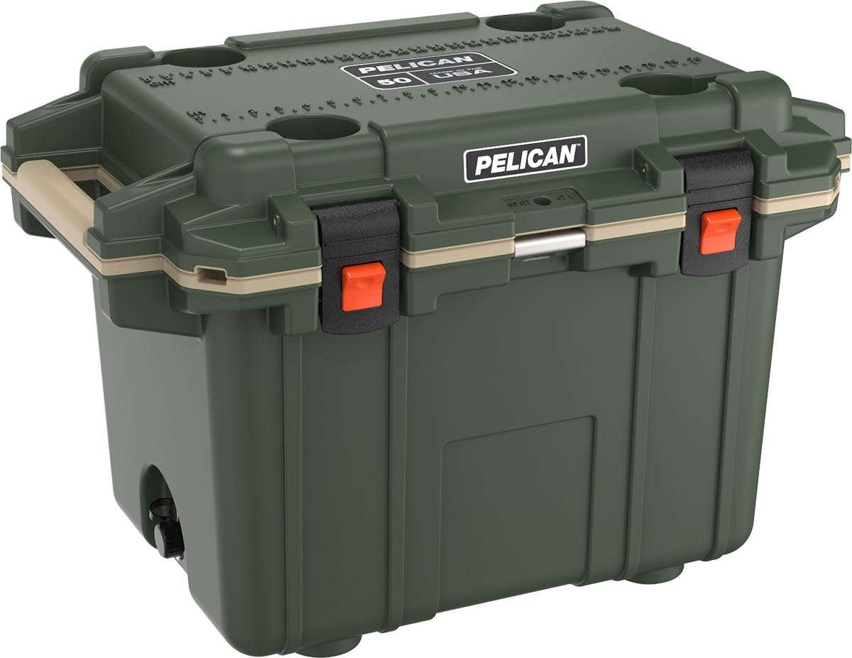 buy pelican 50qt shop hunting coolers od green