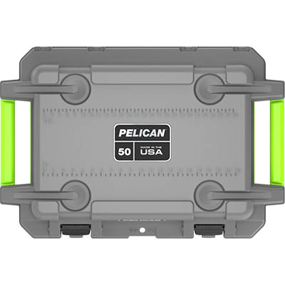 buy pelican 50qt shop gray outdoor camping coolers