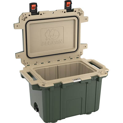 shop pelican 50qt buy outdoor hunting coolers green